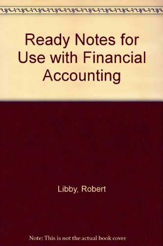 Financial Accounting Ready Notes 2nd 1998 9780256254358 Front Cover