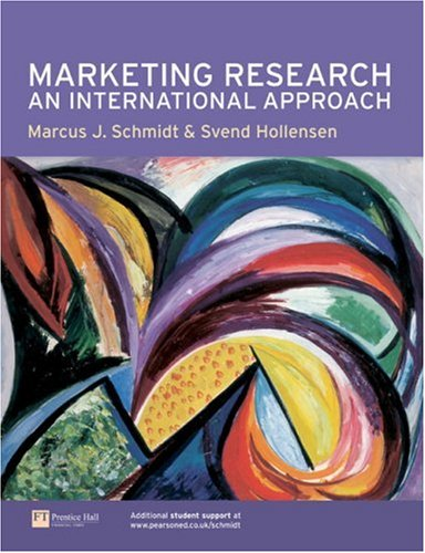Marketing Research An International Approach  2006 9780273646358 Front Cover