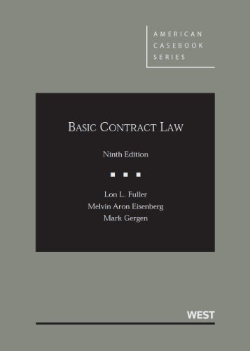 Basic Contract Law:   2013 edition cover