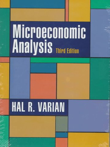 Microeconomic Analysis  3rd 1992 edition cover