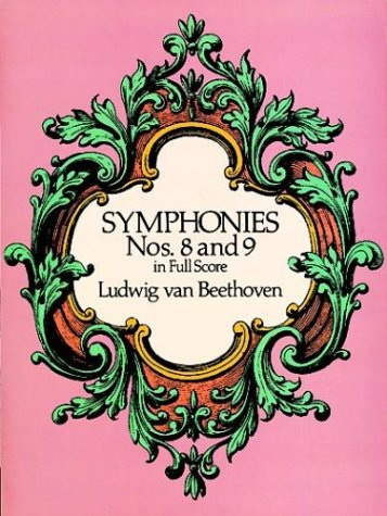Symphonies Nos. 8 and 9 in Full Score   1989 edition cover