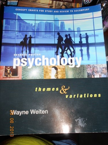 Psychology Themes and Variations 7th 2007 9780495170358 Front Cover