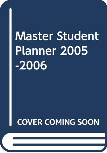 Master Student Planner 06/07 11th 2007 9780618777358 Front Cover