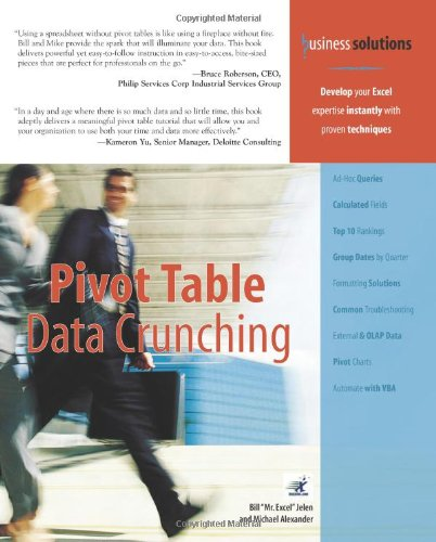 Pivot Table Data Crunching   2005 9780789734358 Front Cover