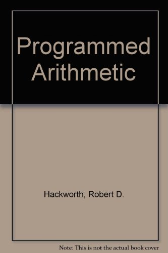 Programmed Arithmetic 3rd (Revised) 9780943202358 Front Cover