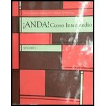 ANDA! CURSO INTERMEDIO,VOL.1 >CUSTOM<   N/A 9781269194358 Front Cover