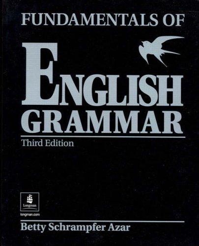 Fundamentals of English Grammar  3rd 2007 edition cover