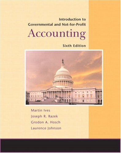 Introduction to Governmental and Not-for-Profit Accounting  6th 2009 edition cover