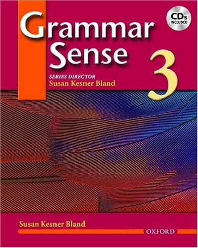 Grammar Sense, Level 3  Student Manual, Study Guide, etc. 9780194366359 Front Cover
