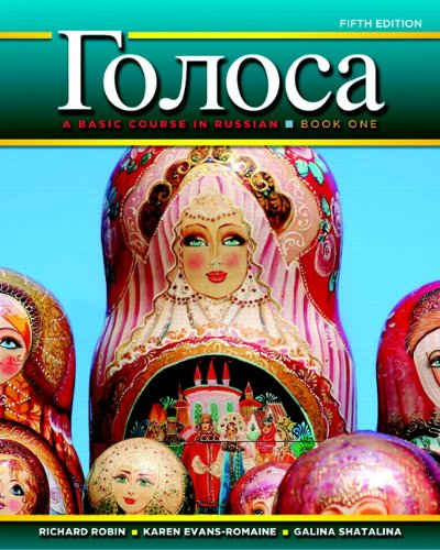 Golosa A Basic Course in Russian 5th 2012 (Revised) 9780205741359 Front Cover