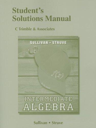 Intermediate Algebra  3rd 2014 edition cover