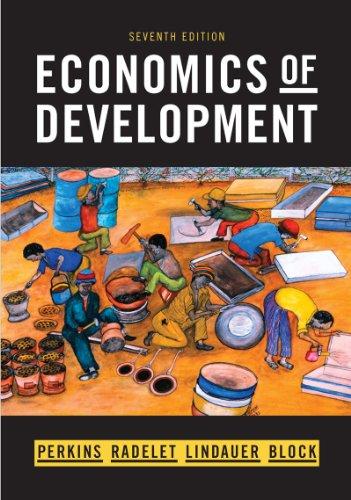 Economics of Development  7th 2013 edition cover
