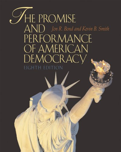 Promise and Performance of American Democracy  8th 2008 (Revised) 9780495115359 Front Cover