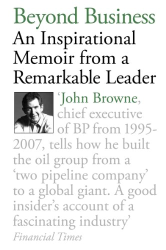 Beyond Business An Inspirational Memoir from a Remarkable Leader  2011 edition cover