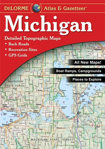Michigan Atlas and Gazetteer  8th 2001 edition cover
