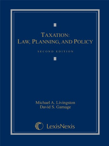 Taxation Law, Planning and Policy (Looseleaf) N/A edition cover