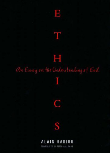 Ethics An Essay on the Understanding of Evil  2002 (Reprint) edition cover
