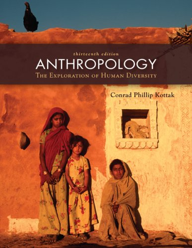 Anthropology The Exploration of Human Diversity 13th 2009 edition cover