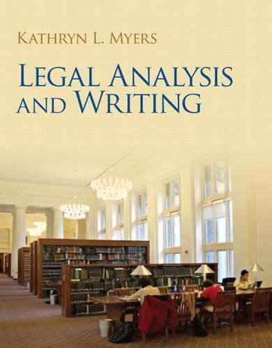 Legal Analysis and Writing   2014 edition cover
