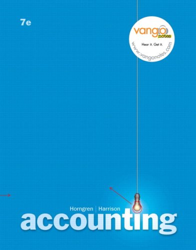 Accounting, Chapters 1-23  7th 2007 9780135127360 Front Cover