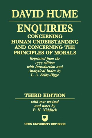 Enquiries Concerning Human Understanding and Concerning the Principles of Morals  3rd 1997 (Revised) edition cover