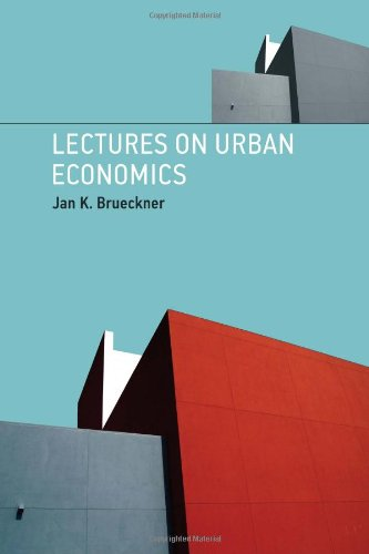 Lectures on Urban Economics   2011 edition cover