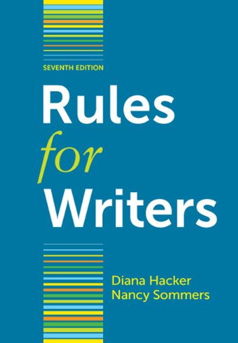 Rules for Writers  7th 2012 edition cover