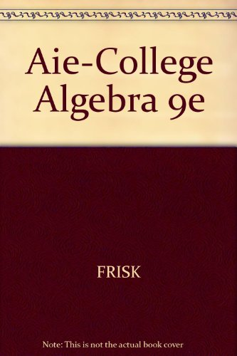 COLLEGE ALGEBRA-W/CD >ANNOT.IN 9th 2007 9780495018360 Front Cover