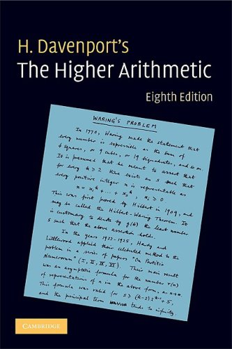 Higher Arithmetic An Introduction to the Theory of Numbers 8th 2008 (Revised) 9780521722360 Front Cover