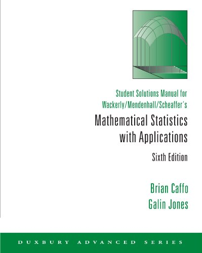 Mathematical Statistics with Applications Student Solutions Manual 6th 2002 (Student Manual, Study Guide, etc.) 9780534382360 Front Cover