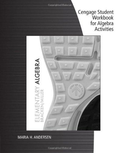 Student Workbook for Bracken/Miller's Elementary Algebra   2014 9781285067360 Front Cover