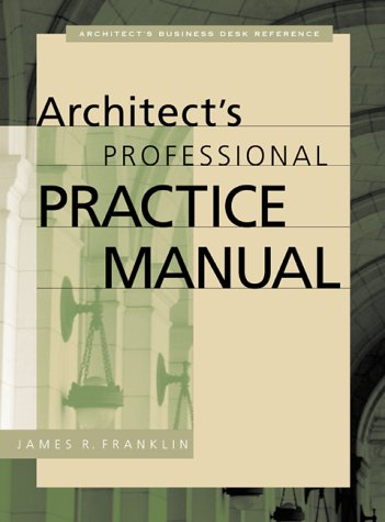 Architect's Professional Practice Manual   2000 edition cover