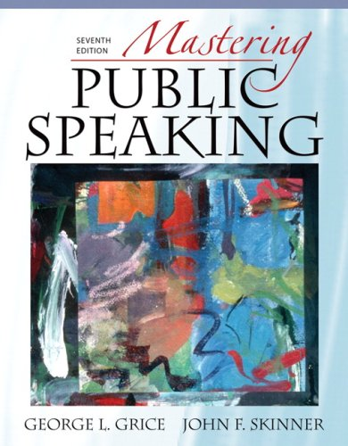 Mastering Public Speaking  7th 2010 edition cover