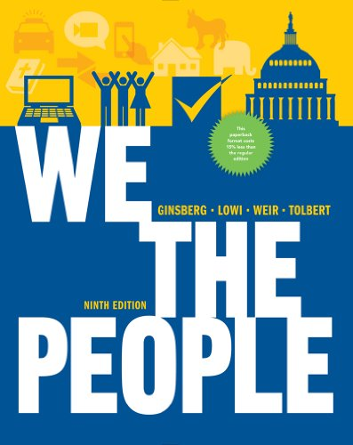 We the People An Introduction to American Politics 9th 2013 9780393124361 Front Cover