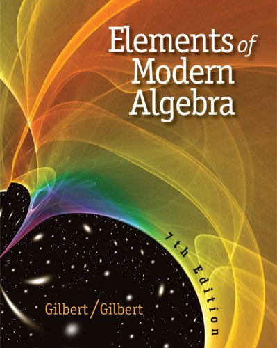 Elements of Modern Algebra  7th 2009 edition cover