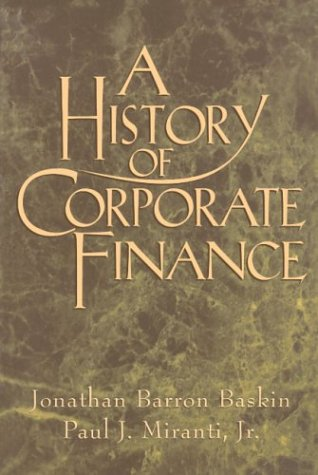 History of Corporate Finance   1999 edition cover