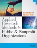 Applied Research Methods in Public and Nonprofit Organizations   2014 9781118737361 Front Cover
