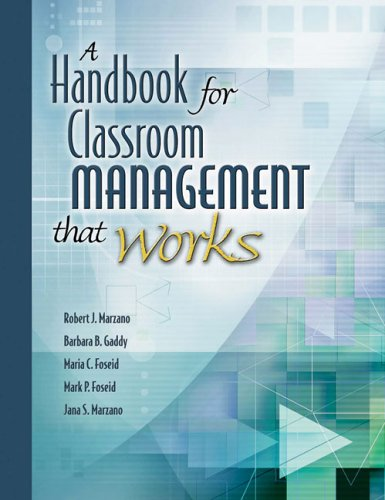 Handbook for Classroom Management That Works   2005 edition cover