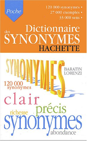 Hachette Dictionnaire des Synonymes N/A edition cover
