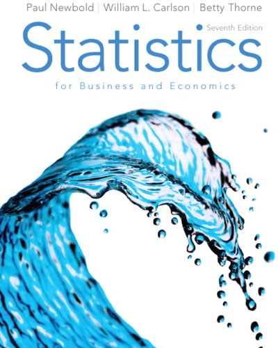 Statistics for Business and Economics  7th 2010 edition cover