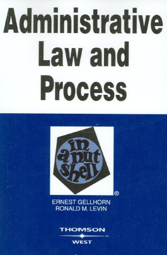 Administrative Law and Process in a Nutshell  5th 2006 (Revised) edition cover