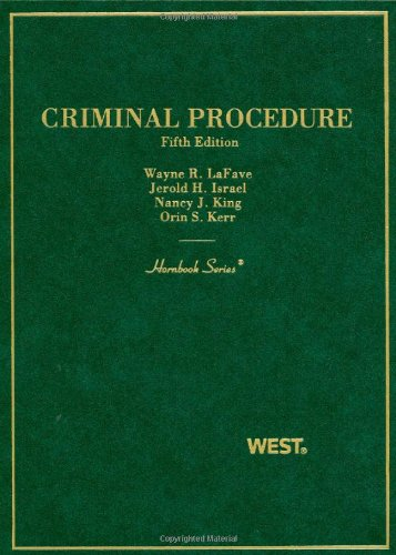 Criminal Procedure  5th 2009 (Revised) edition cover
