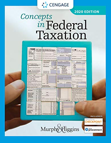 Concepts in Federal Taxation 2020 (with Intuit ProConnect Tax Online 2020 and RIA Checkpoint 1 Term (6 Months) Printed Access Card)  27th 2020 9780357110362 Front Cover