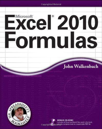 Excel 2010 Formulas   2010 edition cover