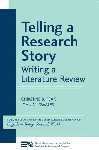 Telling a Research Story Writing a Literature Review  2009 edition cover