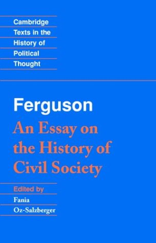 Ferguson An Essay on the History of Civil Society  1996 edition cover