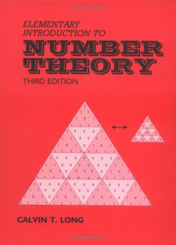 Elementary Introduction to Number Theory  3rd edition cover