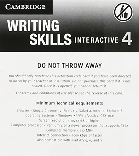 Grammar and Beyond Level 4 Writing Skills Interactive (Standalone for Students) Via Activation Code Card  N/A 9781107642362 Front Cover