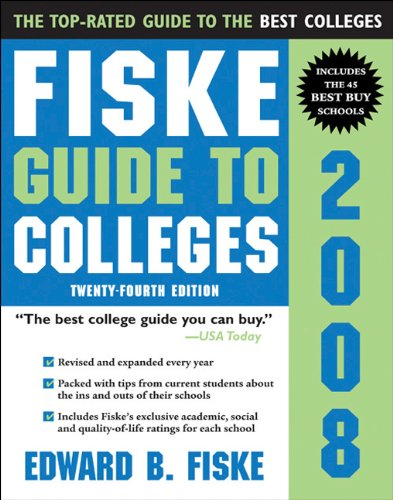 Fiske Guide to Colleges 2008   2007 9781402208362 Front Cover