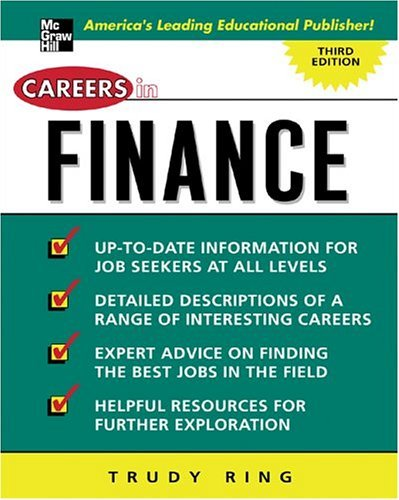 Careers in Finance  3rd 2005 (Revised) edition cover